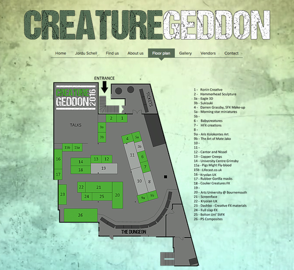 Creaturegeddon 2016 Floor Plan